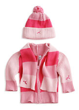 New Girl's Pink Sweater, Scarf, Hat Gift Set  12M 18M