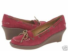 Sperry AO Authentic Original Burgundy Wedges Womens NEW