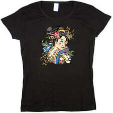 Japanese Geisha Girl Baby Doll Tee JUNIOR SIZE T-SHIRT
