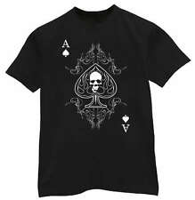 * BIG & and TALL * Ace of Spades Biker shirt T-shirt