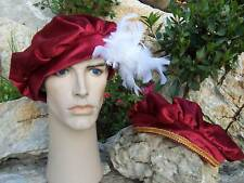MEDIEVAL/TUDOR PRINCE FEATHER HAT - COSTUME/FANCY DRESS