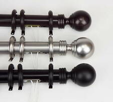 """Traverse Rod w/ Rings Ball Finial 4 size 30-156"""" 3color"""