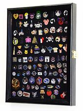 Lapel Pin patches Medal Display Case ShadowBox Cabinet