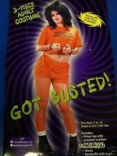 Got Busted Orange Prisoner Convict Halloween Sexy Adult Costume