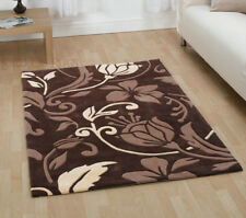 Very Large Quality Thick Damask Brown Rug Carpet Runner