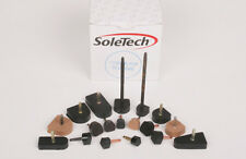 HIGH HEEL TIPS RUBBER Stiletto Replacement DOWEL LIFTS SoleTech 3pr ANY SIZE