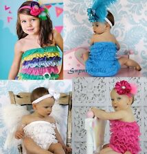 Baby Ruffle Lace Petti Rompers Newborn/Infant/Toddler photo prop portrait U-pick