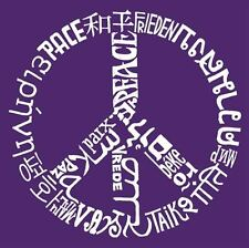 Girl's T-shirt -The Word Peace in 20 Languages Word Art