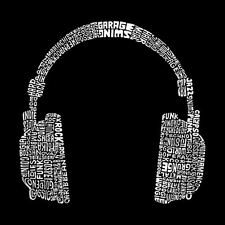 Large Tote Bag - 63 Different Genres of Music -Word Art
