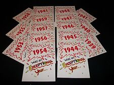 1940's and 1950's  Year of Birth   BIRTHDAY CARD + ENVELOPE          New
