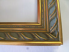 """2"""" Wide Gold Double Leaf Ornate Wood Picture Frame-Custom Made Standard Sizes"""