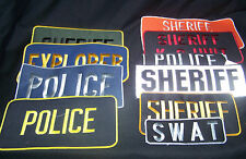 Law Enforcement Back Patches