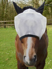 GEE TAC HEAVY DUTY EYE CLEARANCE  UV RATED FLY MASK WHITE REFLECTS SUNLIGHT .