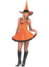 You Spicy Witch Orange Dress Up Sexy Halloween Adult Costume