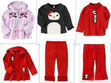 NWT sz 4T 5T Gymboree WINTER PENGUIN Purple Hoodie Polka dot Red Shirt Pants