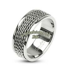 New Style Stainless Steel Chain Links Round Men's Wedding Band SZ 9,10,11,12,13