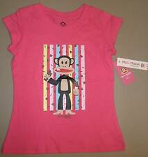 Paul Frank Julius Monkey Hot Pink Short Sleeve T-Shirt Girls Size 5 or 6 NWT NEW