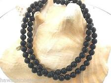 "VARIETY 5MM INDO-PACIFIC CALIBRATED ROUND BLACK CORAL BEAD ROPE NECKLACE 22""-28"""