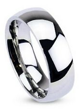 Stainless Steel Glossy Polished Wedding Ring Band 3mm 4mm 6mm 8mm Size 4.5 - 14