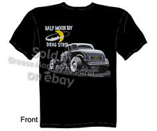 1932 Ford Coupe T-shirt Hot Rod Shirt Half Moon Drag Strip Tee Sz M L XL 2XL 3XL