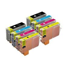 8 Compatible BCI-6CMY / BCI-3EBK Printer Ink Cartridges for Canon S400 & more