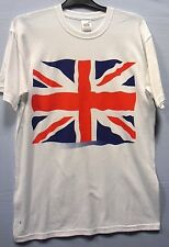 Childrens Childs Kids Union Jack Flag Print Short Sleeve White T-Shirt