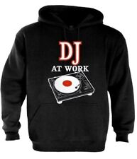 DJ at Work Hoodie Mixer music headphones party disco turntables