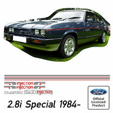 Ford Capri Mk3 2.8 injection Special Stripe Kit Decals Stickers 2.8i Stripes