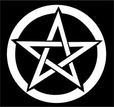 Pentacle Decal Pentagram wiccan pagan car window vinyl altar sticker graphic