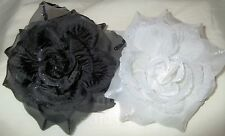 TRENDY - 3 In 1 Glittered Flower Rose Hair Clip, Brooch, Corsage ***8 Colors* **