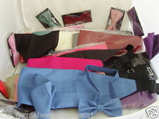 < GG >Any Polyester Bow tie + Cummerbund and Hankie Se >>Adults-Teens-Children