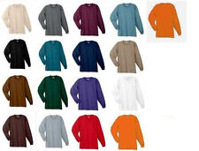 NWT NEW MENS LS LONG SLEEVE CREW NECK TEE T-SHIRT XL-5XL COLOR CHOICES