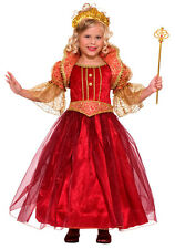 Renaissance Damsel Princess Red Gown Dress Up Halloween Deluxe Child Costume