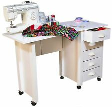 Mobile Folding Desk Sewing Machine Craft Table Home Sewing Table with Wheel -NEW