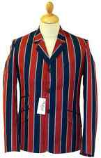 NEW RETRO INDIE MOD SIXTIES STRIPE Striped BOATING BLAZER JACKET Vintage 60s