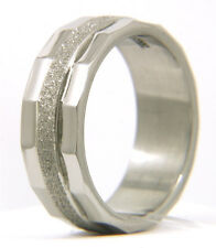 New Men Stainless Steel 316L Satin Finish Wedding Anniversary Band Ring
