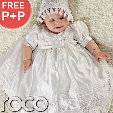 Baby Girls White Dress Traditional Baptism Gown Christening Dresses 0 - 12m