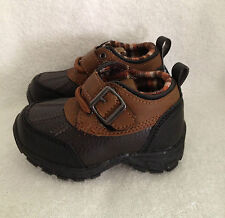 SONOMA KIDS  KOHL'S BOYS SHOES  BOOTS BROWN LIL CORY NON SKID VELCRO & LACES