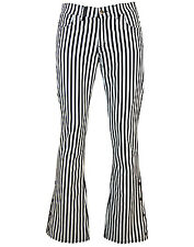 NEW Sixties Mod Indie Military look Bootcut FLARES Retro Striped JEANS 60s MC190