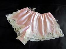 PERFECT PINK SATIN LACY DESIGNER FRENCH KNICKERS All Sizes PANTIES LINGERIE