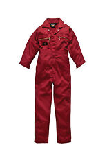Dickies Childs Kids Junior Boilersuit Overalls Coverall - All Sizes Blue or Red