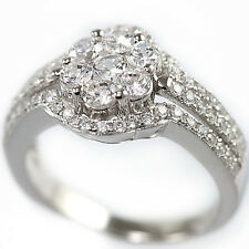 .925 Sterling Silver Simulated Diamond Bridal Engagement Fashion Band Ring Set