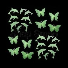 New – Glow in Dark 4x3D Butterflies or 8xDolphins + Adhesive – Bedroom/Nursery