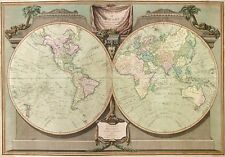 MP29 Vintage 1808 Historical World Map Captain Cooks Discoveries A1/A2/A3