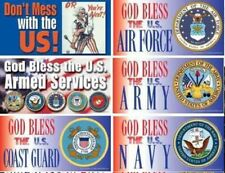 PROUD VET-GOD BLESS MILITARY MAGNET--choice of -Army, Navy, Marines, Air, Coast