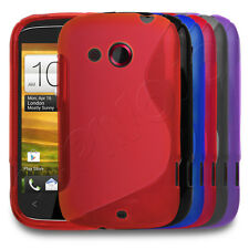 STYLISH GEL S-WAVE SLIM RUBBER CASE COVER SKIN FOR HTC DESIRE C MOBILE PHONE
