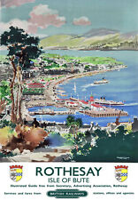 TU44 Vintage Rothesay Isle Of Bute British Railways Travel Poster Re-Print A4