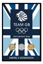 Team GB Our Greatest Team Medal Count Poster Magnetic Notice Board Inc Magnets