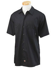 Dickies Mens Short Sleeve Work Shirt Classic BLACK NEW! Workwear S-4XL