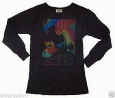 New Authentic Junk Food The Rolling Stones Rainbow Thermal Long Sleeve Shirt